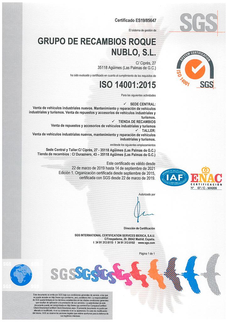 Certificado SGC